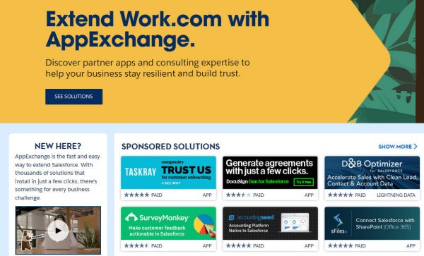 AppExchange : l'écosystème des partenaires
