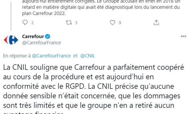 Carrefour épinglé par la Cnil et condamné à plus de 3 millions d'euros d'amende
