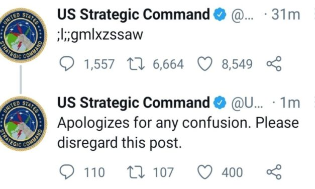 Un enfant prend le contrôle du Twitter De l'arsenal nucléaire américain