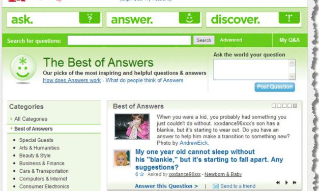 Clap de fin pour Yahoo Answers
