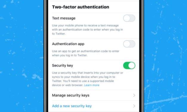 Twitter permet désormais d'utiliser les clés de sécurité comme seul moyen d'authentification